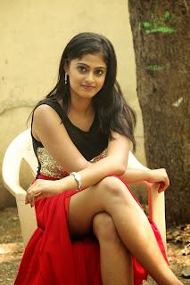 Megha Shree Beautiful Tamil Actress Spicy Pics in Red Leg Split Anarkali Dress