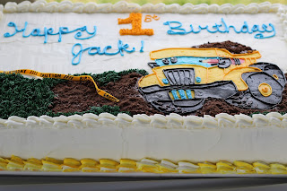 construction pals sheet cake