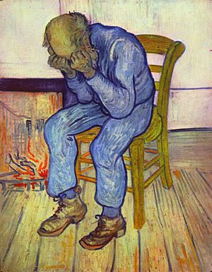 "Picture of ""At Eternity's Gate"" by Vincent van Gogh 1890"