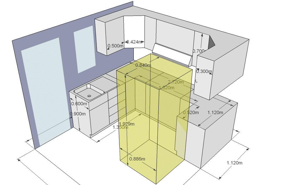 Closets y cocinas integrales residencial cocina integral for Medidas de muebles de cocina integral