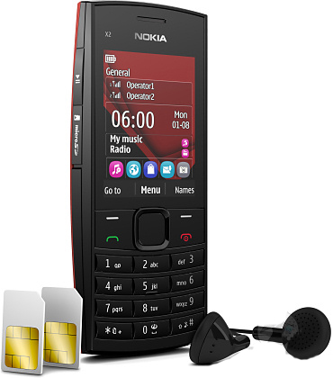 Powered Symbian Nokia X2-02