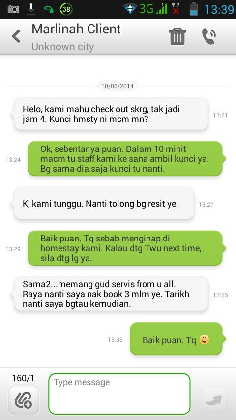 Customer Homestay Tawau