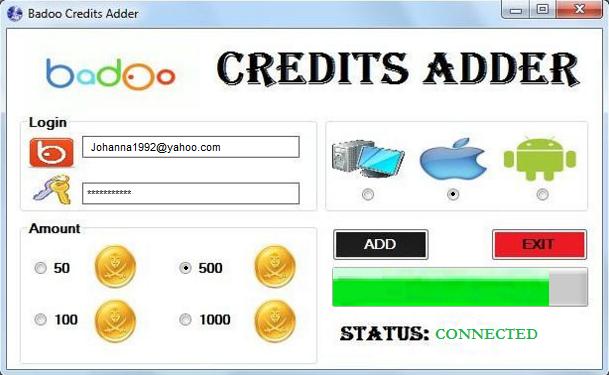 100 кредитов badoo