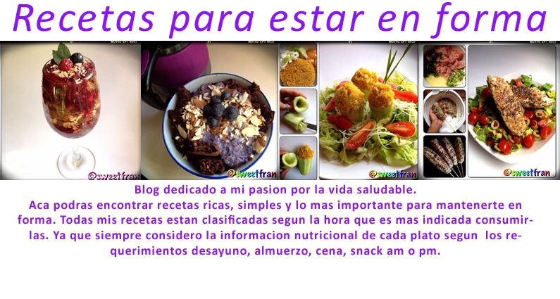 SweetFran, recetas para estar fit.