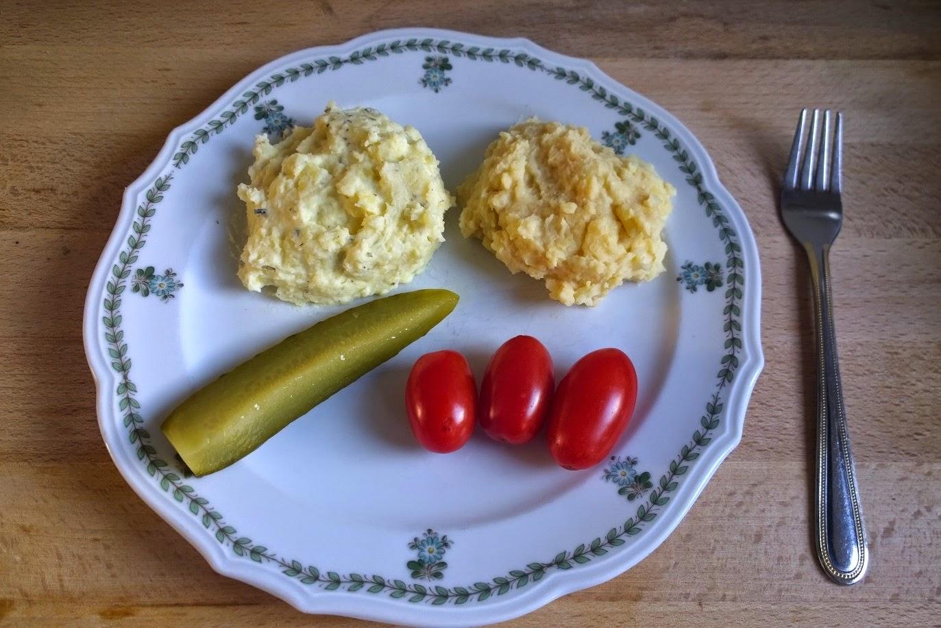 Kartoffelpüree ohne Milch, Kartoffelpüree ohne Butter, Kartoffelpüree mit Frischkäse, Kartoffelpüree mit Erdnussbutter