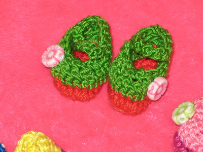 Mary Jane crochet shoes