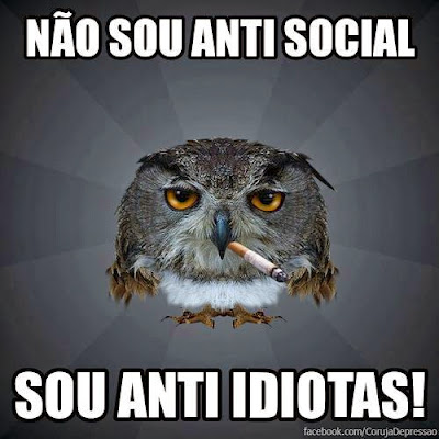 Não sou anti social sou Anti Idiotas