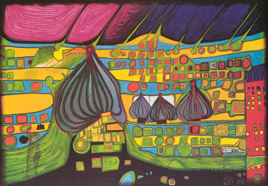 Hundertwasser Is A Famous Contemporary Austrian Painter Whos Work Mainly Focussed On Architectural Paintings From The Early 1950s However He Also Designed