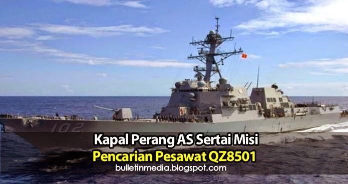 Kapal Perang AS Sertai Misi Pencarian Pesawat QZ8501