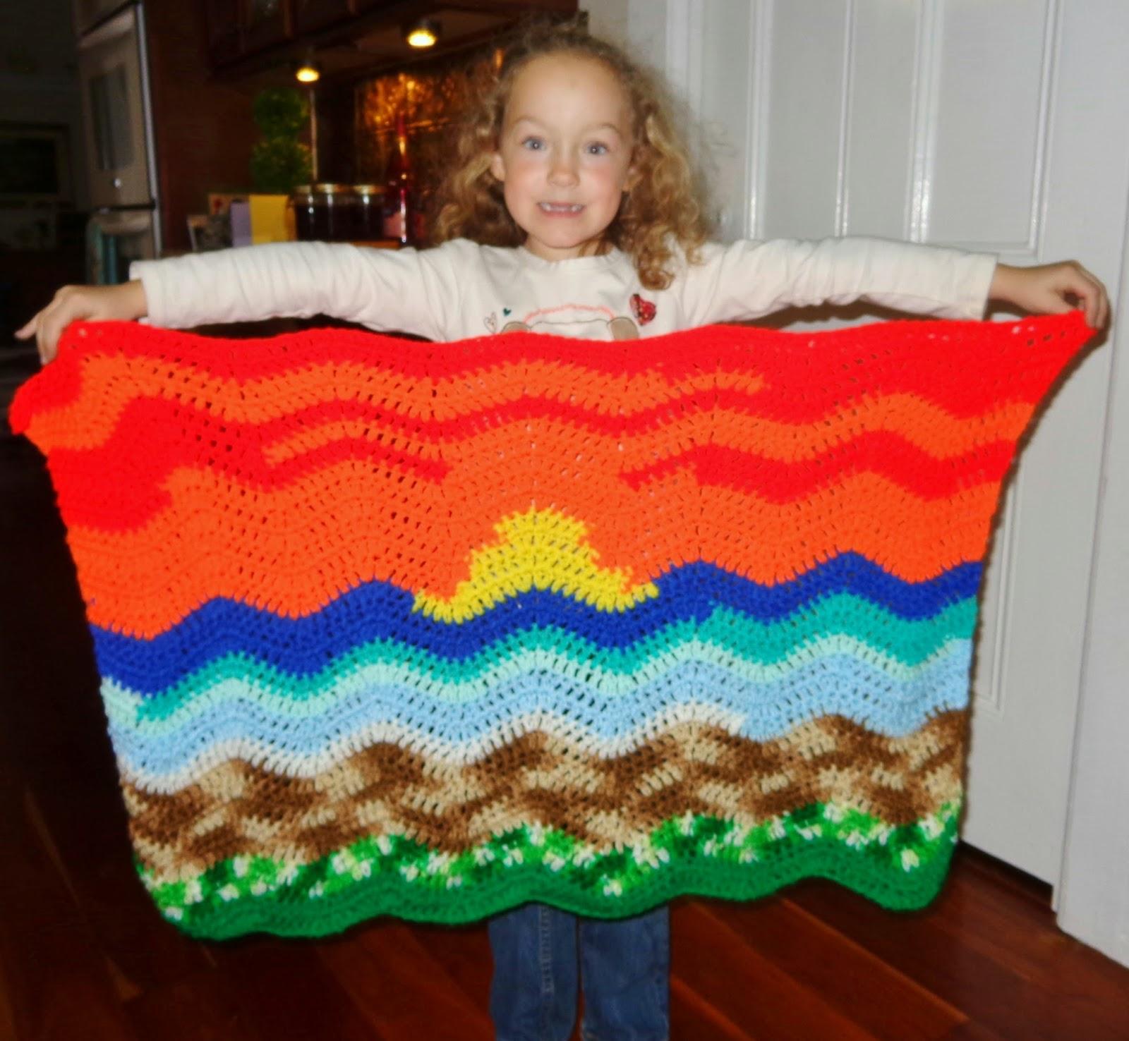 Beach Blanket Experiment: Hobby Hooker: Ripple Stitch Beach Blanket