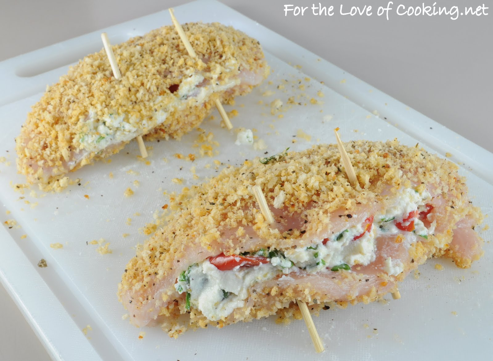 to Cook: Panko Crusted Chicken Stuffed with Ricotta, Spinach, Tomatoes ...
