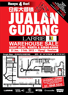LARRIE Shoes Warehouse Sale 2013