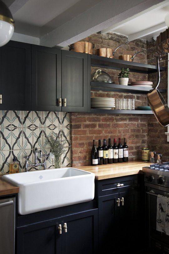 La fabrique d co des briques dans la cuisine - Deco vintage cuisine ...