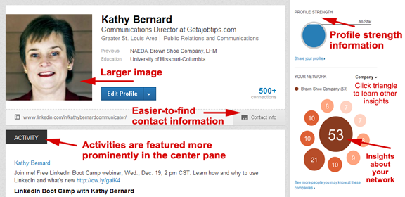 LinkedIn profile, LinkedIn profile enhancements,