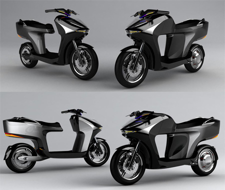 Fuel Cell Scooter Concept by Chengli Hung