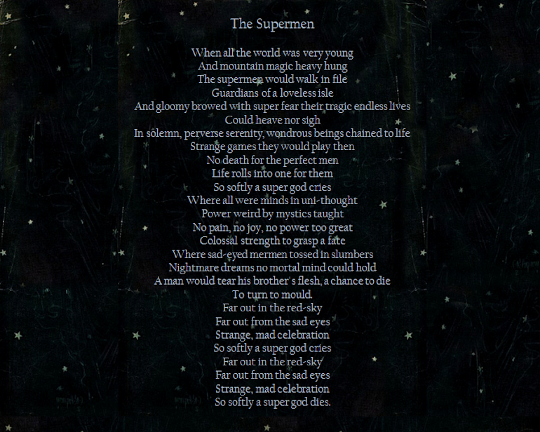 'The Supermen' - David Bowie.