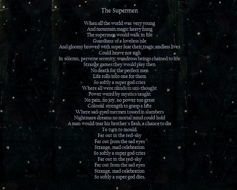 'The Supermen' - David Bowie.