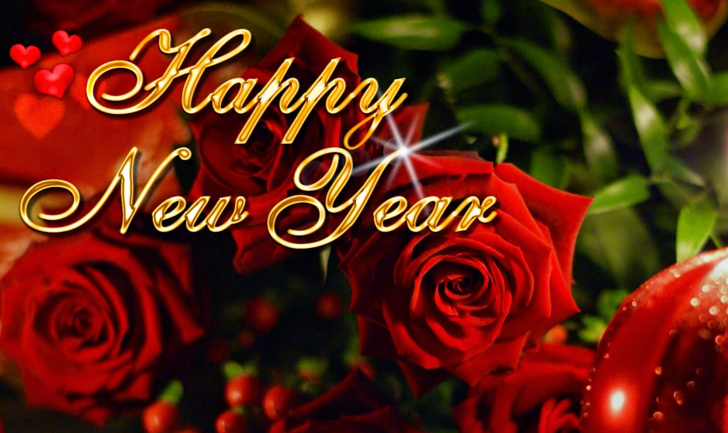 November 2014 happy new year wish in red flower kristyandbryce Images