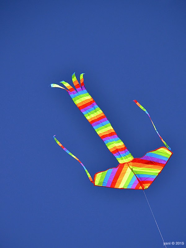 rainbow arrow kite