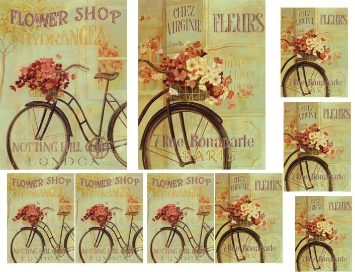 Laminas decoupage: lamina bicicleta antigua