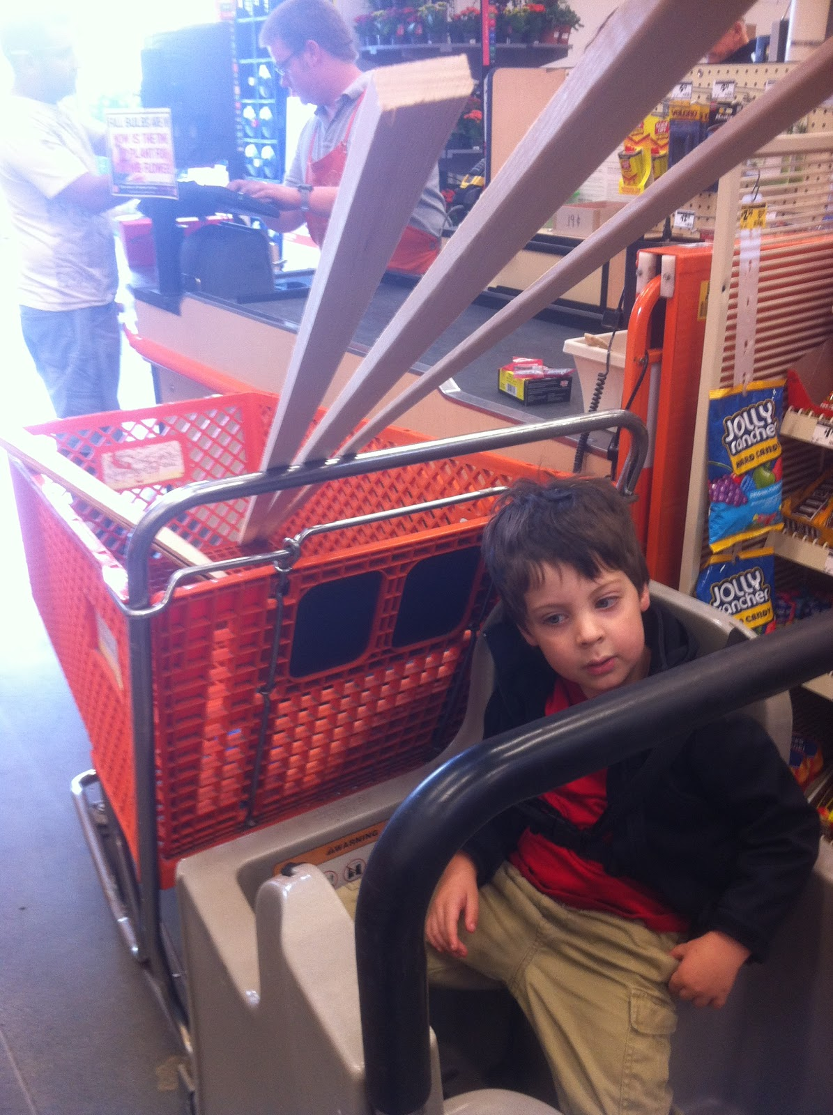 home depot shopping trip