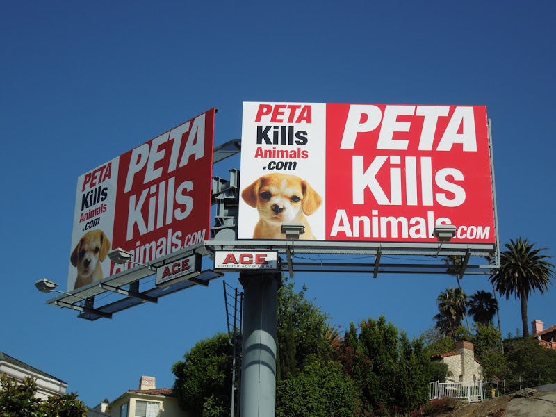 PETA kills animals billboard