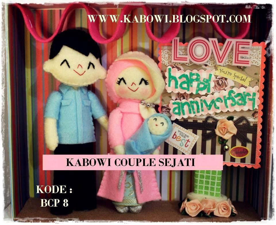 Hadiah boneka unik lucu baju kaos batik couple pasangan buat untuk