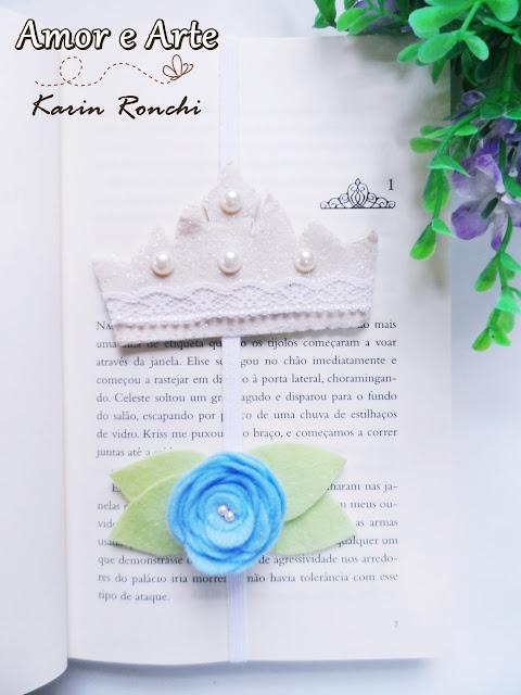 Marcador de Páginas Coroa da Princesa + Rosa Azul!
