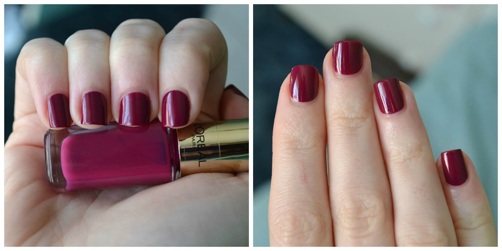 Freckled Elle: L\'Oreal Colour Riche Nail Polish in 506 Exotic Grenade