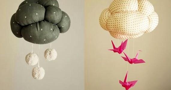Zona de manualidades nube para decorar la habitaci n de tu beb - Manualidades para decorar habitacion bebe ...