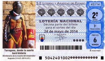 Sorteo 42 de la Lotería Nacional del sábado 24 de mayo de 2014