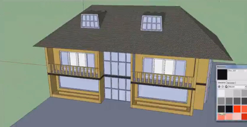 How to drawing a simple 3d house and faster with the for Google 3d design sketchup