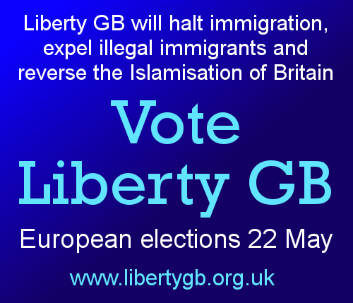 Vote Liberty GB European Elections 22 May 2014