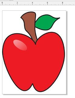 Coreldraw-membuat gambar apel