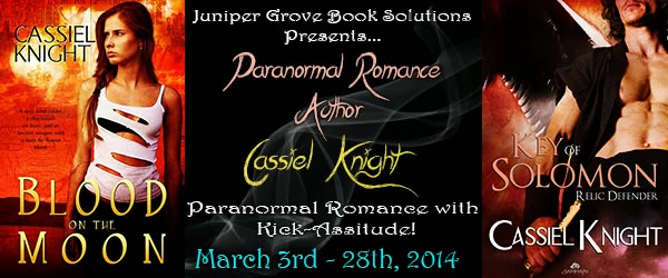 Blog Tour: Cassiel Knight Paranormal Romance Author
