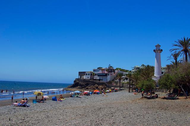 Gran Canaria, Bahia Feliz, wakacje, latarnia morska, plaża