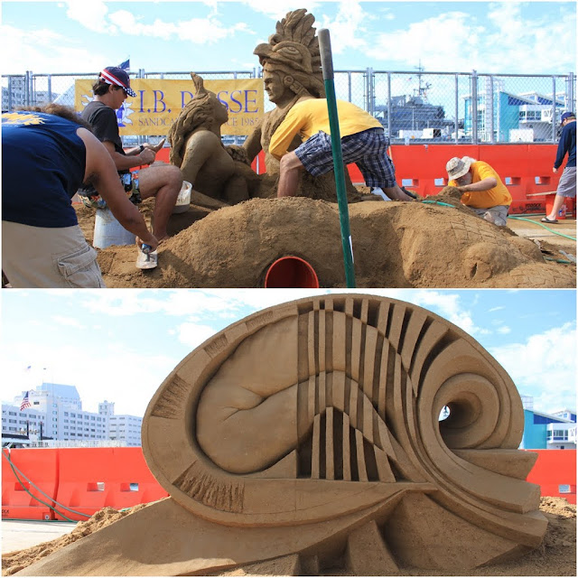 Fergus Mulvany's latest creation at Sand Sculpting Challenge 2012 in San Diego, California, USA
