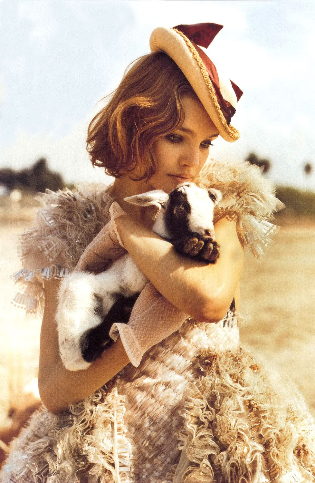 Natalia Vodianova in Outlaw couture | Vogue Italia March 2008 (photography: Bruce Weber, styling: Anne Christensen)