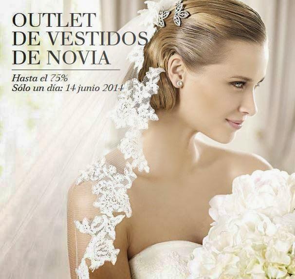 outlet especial pronovias - vestidos de novia hasta el 75% de