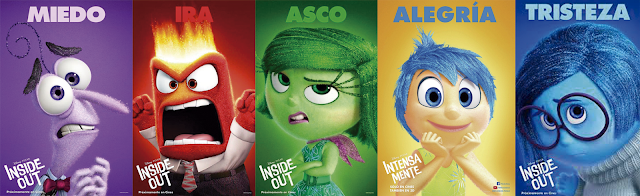 """Personajes de la película de Disney-Pixar """"Del revés (Inside Out)"""""""