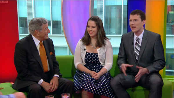 daniel and laura curtis on the bbc one show with tony bennett