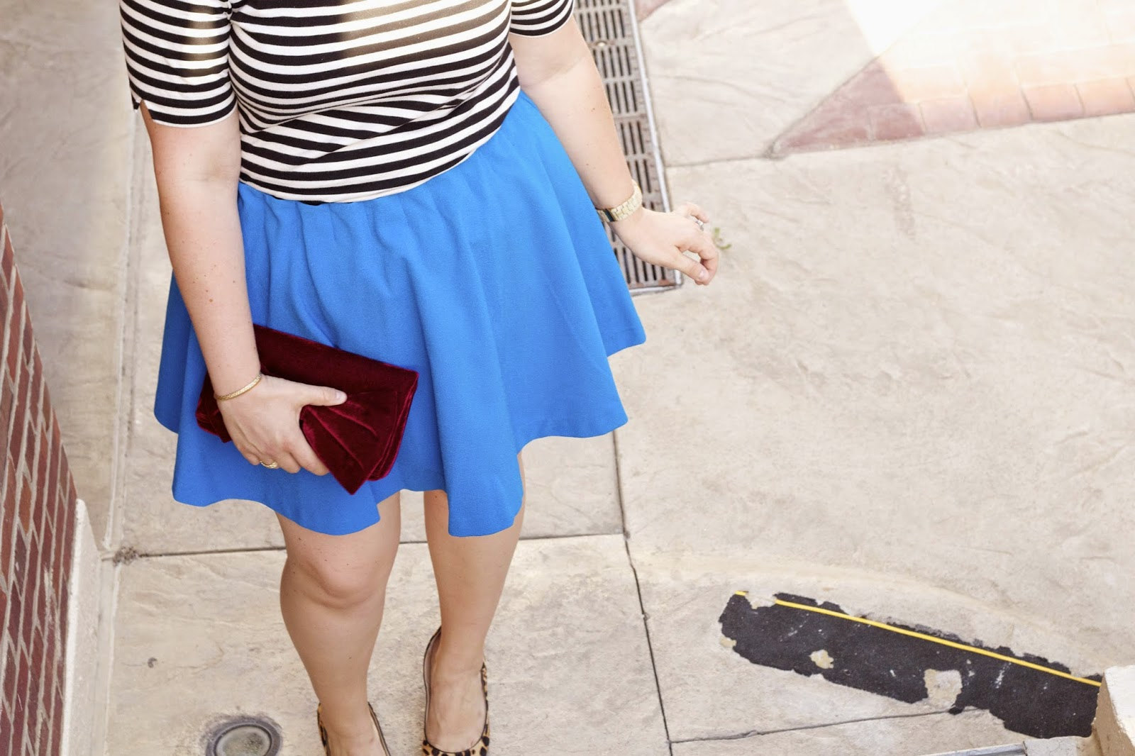 Outfit with Blue Skirt