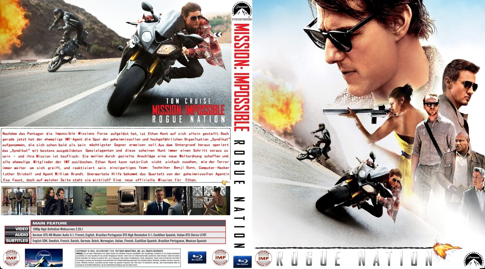 mission impossible rogue nation 2015 okkala store. Black Bedroom Furniture Sets. Home Design Ideas