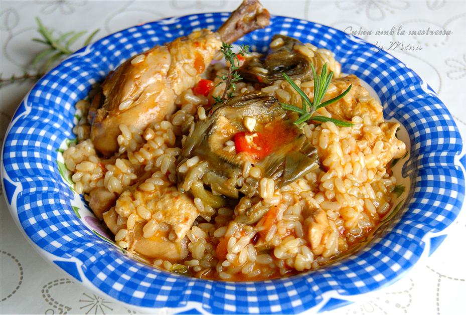 Arroz caldoso con pollo de corral y alcachofas cocina r pida - Arroz caldoso con costillas y alcachofas ...