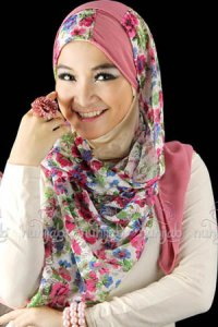 Nuhijab SSB Flower - White Pink (Toko Jilbab dan Busana Muslimah Terbaru)
