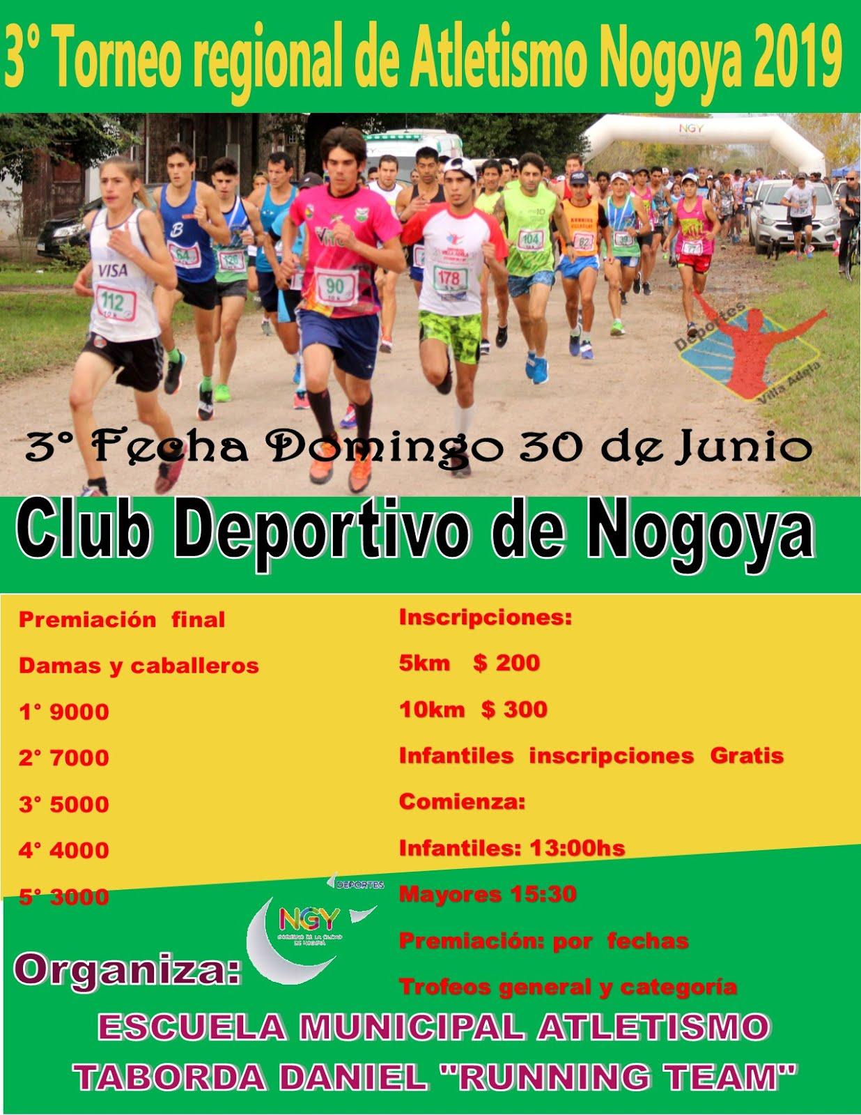 3° Fecha del Regional de Atletismo Nogoya (E.Rios)