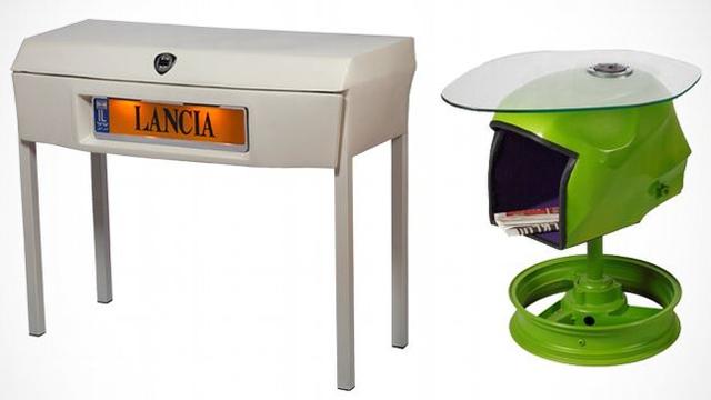 Upcycling: móveis feitos com peças de carro