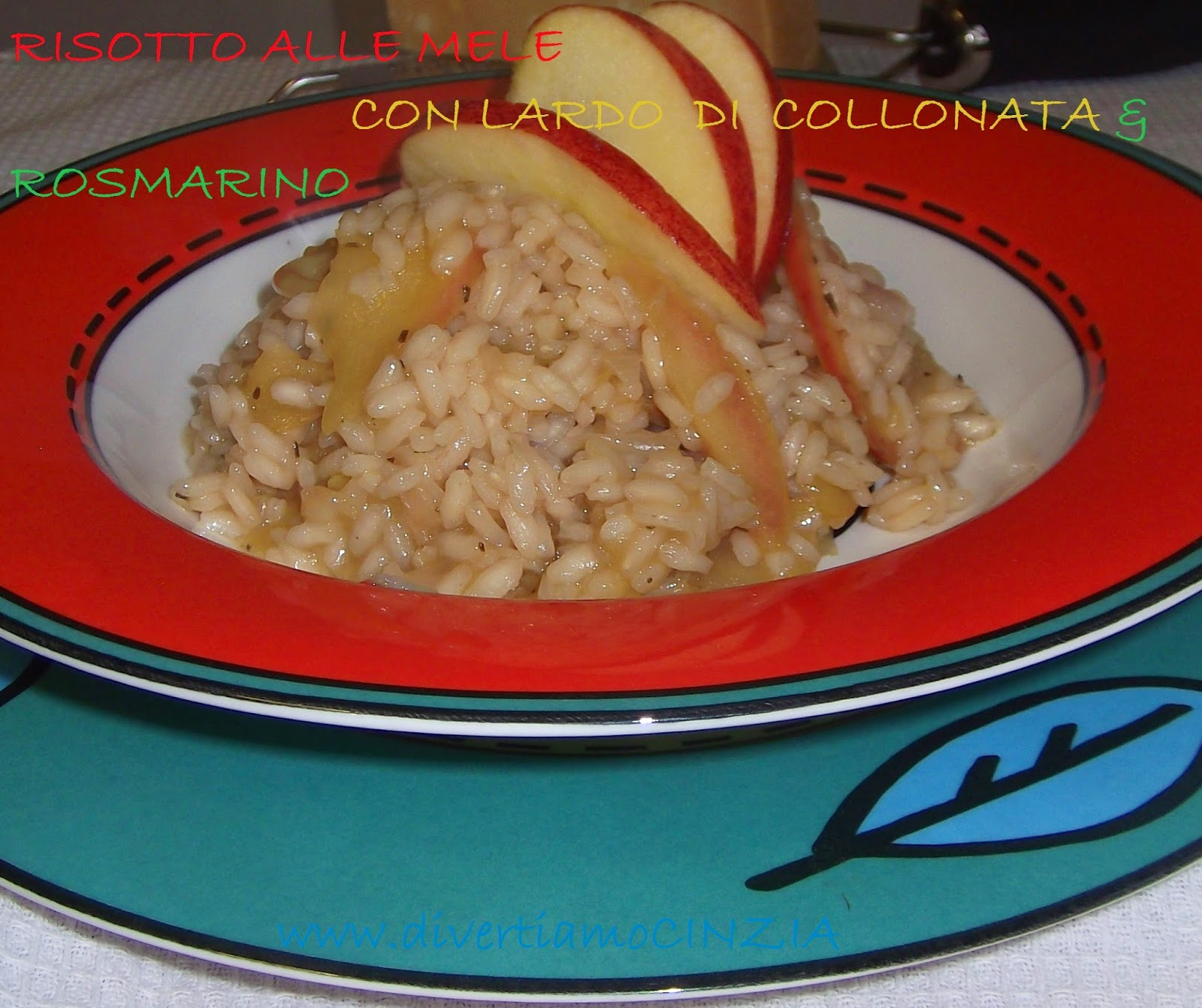 RISOTTO DI MELE CON LARDO DI COLLONATA