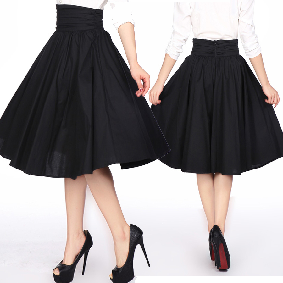 BlueBerry Hill Fashions: Rockabilly High Waist Swing Skirt - xs to ...