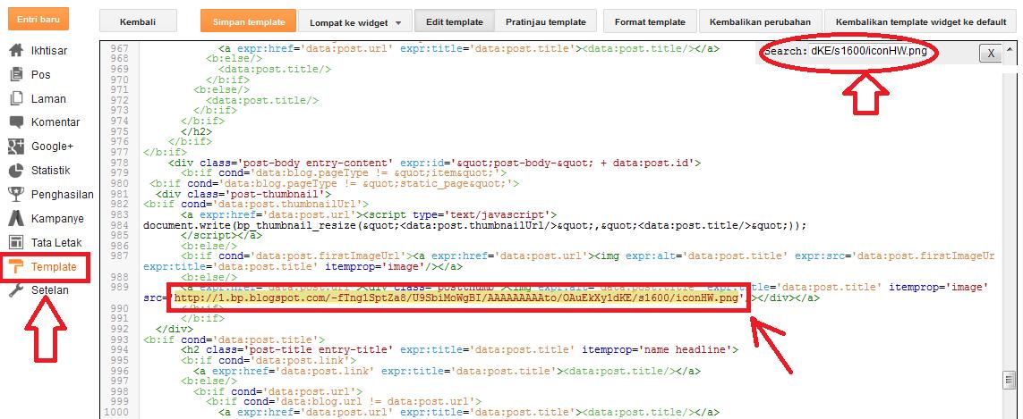 Cara Mengganti URL Gambar Pada Posisi Home